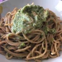 Spaghetti integrali con pesto di rucola e mandorle step 1