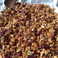 Granola con cacao y jengibre casero