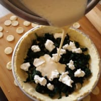 Gluten-free savory pie with spinach and robiola step 6