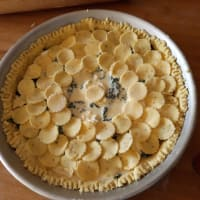 Gluten-free savory pie with spinach and robiola step 7