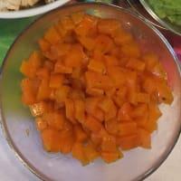 Popette de arroz, guisantes, zanahorias paso 2