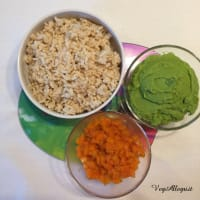 Popette de arroz, guisantes, zanahorias paso 3