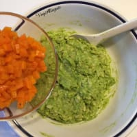 Popette de arroz, guisantes, zanahorias paso 5