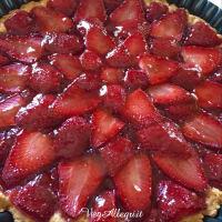 Tarta con fresas paso 11