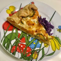 Sabroso pastel de quark zucchini y calabaza