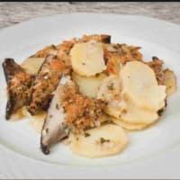 Tila de patata y champiñones