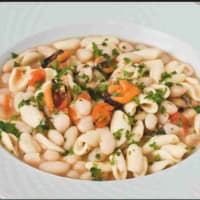 Cavatelli with beans and mussels