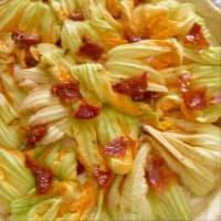 Focaccia Stracchino And Zucchini Flowers step 9