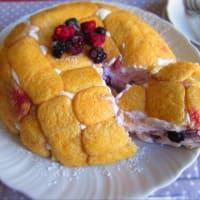 Zuccotto con Mascarpone y bayas (sin cocinar)
