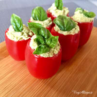 Tomatoes With Green Cream