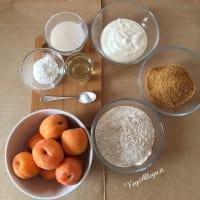 Torta integral con albaricoques paso 1