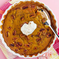 Pumpkin pie and pecans