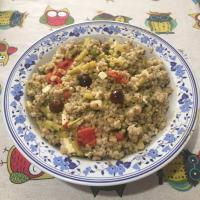 White sorghum salad