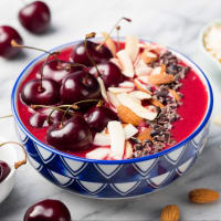 Smoothie con ciliegie e mandorle