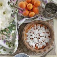 Apricot clafoutis Without milk and eggs