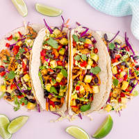 Caribbean tacos with chicken and pineapple