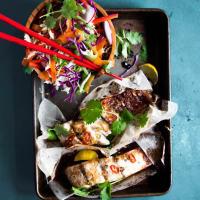 Pesce persico al forno tailandese