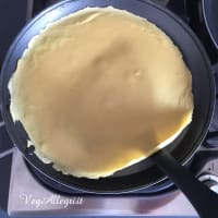 Crepes de garbanzos paso 8