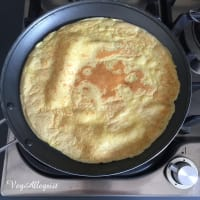 Crepes de garbanzos paso 9