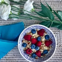 Yogurt with berries and muesli