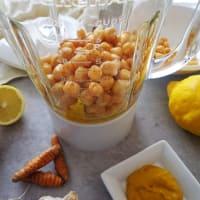 Hummus con cebollas de primavera paso 2