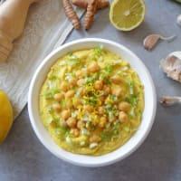 Hummus con cebollas de primavera paso 5