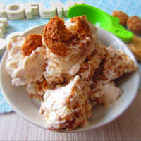 Amaretti ice cream (without eggs and without ice cream maker)