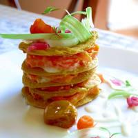 Crispelle Vegan Glutenfree de harina de garbanzo relleno con bechamel v
