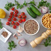 Tabulè di quinoa con ceci step 1