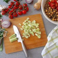 Tabulè di quinoa con ceci step 2