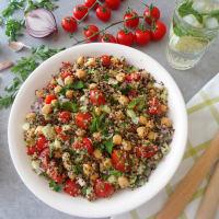 Tabulè di quinoa con ceci step 3