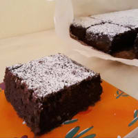 Zucchini y pastel de cacao