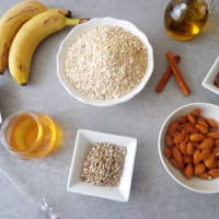 Granola di banana step 1