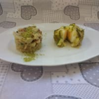 Boiled egg cake with zucchini and pistachio step 2