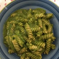 Pasta with fresh pesto
