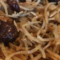 Spaghetti di patate viola e funghi shitake step 6