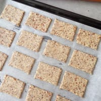 Crackers of seeds and buckwheat flour, gluten-free step 3