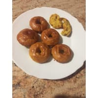 Turmeric and lemon protein donuts