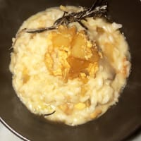 Lard and gorgonzola risotto