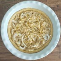 Crostata salata con vellutata di ceci al rosmarino, patate e cipolle step 8