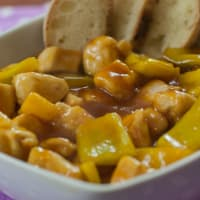 Chicken in sweet and sour sauce!