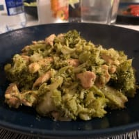 Chicken with soy sauce and broccoli