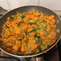Tortilla al horno con calabacín y batatas paso 3