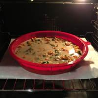 Tortilla al horno con calabacín y batatas paso 7