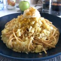Espaguetis con miga de coliflor