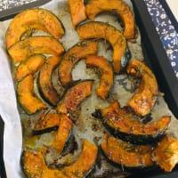 Baked delica pumpkin