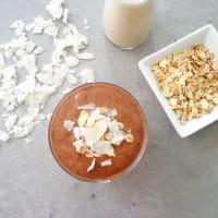 Batido de plátano con cacao y avena paso 2