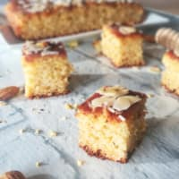 Honey And Lemon Almond Squares