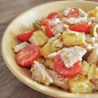 Insalata di tacchino, patate, pomodori e olive step 5