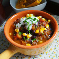 Chili with black beans and pumpkin